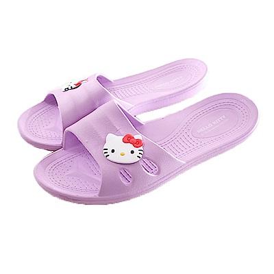 Hello kitty休閒拖鞋 紫 sk0253 魔法Baby