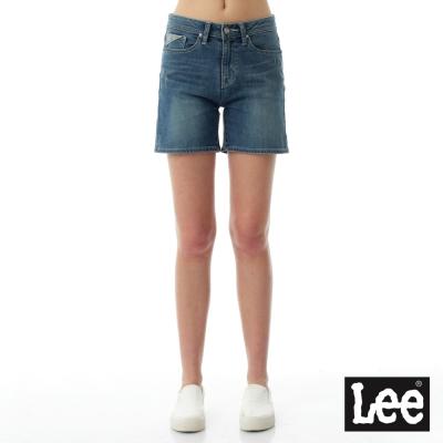 Lee Jade Fusion冰精玉石 牛仔素面直筒短褲-女款-藍