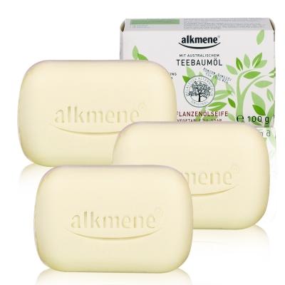 德國alkmene茶樹精油淨膚抗痘香皂100g(超值三入組)