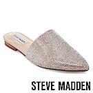 STEVE MADDEN-TRACE-R 麂皮水鑽尖頭低跟穆勒鞋-絨米