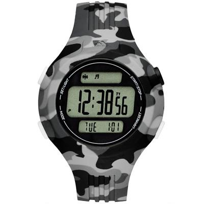 adidas 勁戰狙擊大面板電子腕錶-灰x迷彩灰x小/42mm