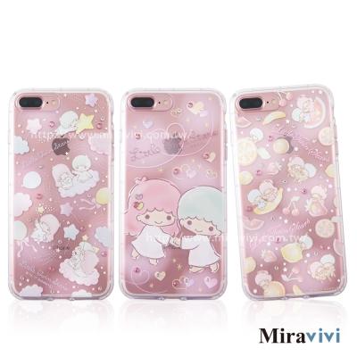Sanrio三麗鷗iPhone 8/7 Plus施華落世奇水鑽防摔空壓保護套_雙...