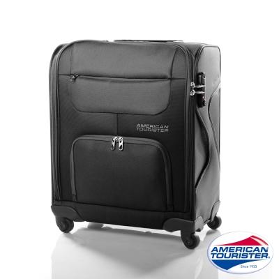 AT美國旅行者 18吋MV+加大容量休旅登機箱(黑)