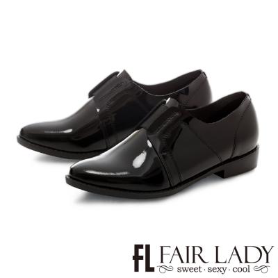 Fair Lady 俐落線條法式優雅大人感便鞋 黑