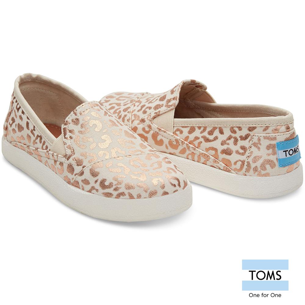 TOMS 搖滾豹紋懶人鞋-孩童款