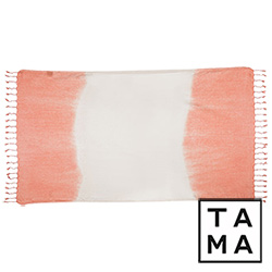 TAMA 天然純淨頂級土耳其手工平織薄巾(淡暈染粉紅)