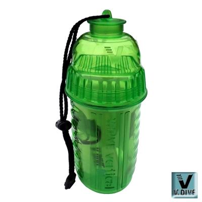 V.DIVE 威帶夫造型防水盒  VBD01D透明昌亮綠