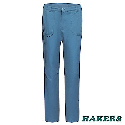 【HAKERS 】女- 休閒長褲-灰藍色
