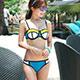 比基尼 拼貼撞色二件式泳衣(藍S~L) 天使霓裳 product thumbnail 1