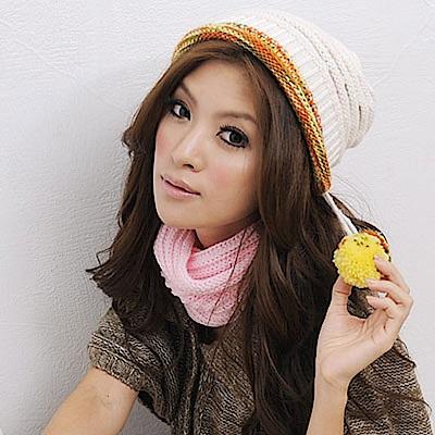 Aimee Toff 水果慕絲豐彩雙層針織毛帽(白)