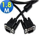 Cable 纖細型高解析度VGA視訊線 15Pin公-公 1.8米