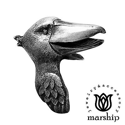 Marship 日本銀飾品牌 鯨頭鸛戒指 925純銀 古董銀款 不動如山 @ Y!購物