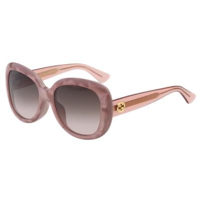 GUCCI太陽眼鏡 復古百搭  粉色 GG3830FS