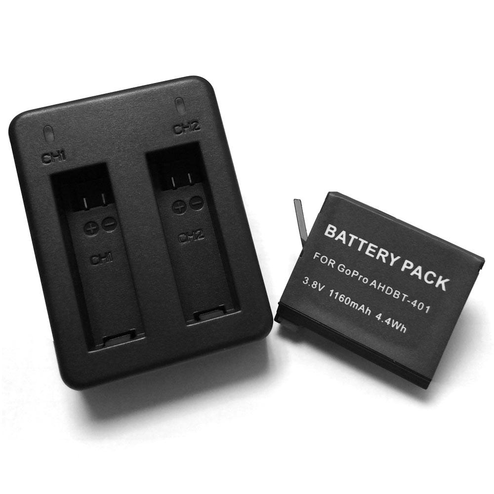 超值組 GoPro HERO 4 雙電池充電器+1顆充電電池(AHDBT-401)