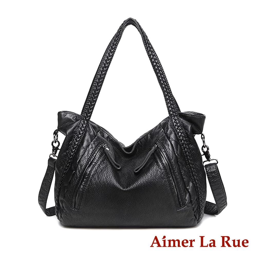 Aimer La Rue 肩背側背包 黑雲姆系列(黑色)