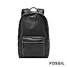 FOSSIL ESTATE 全真皮經典後背包-黑色
