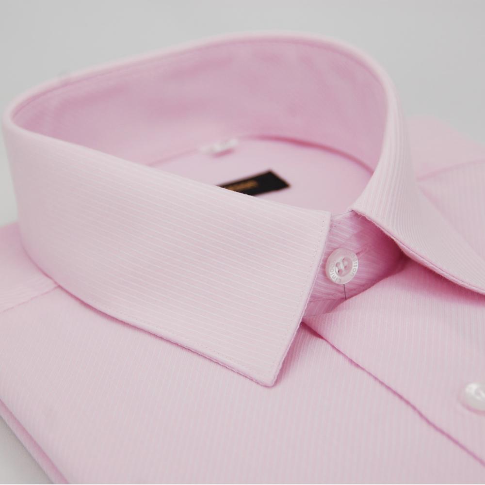 【金安德森】粉色斜紋長袖襯衫