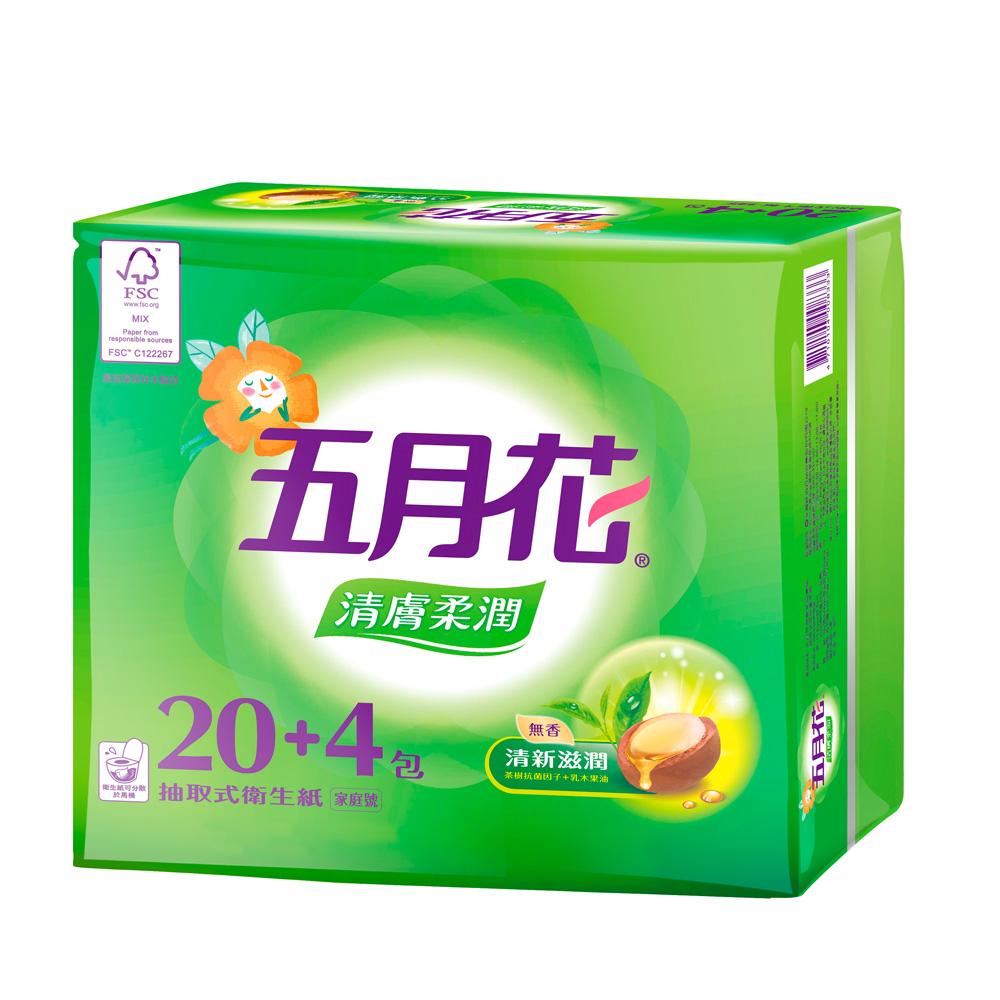 五月花清膚柔潤抽取衛生紙100抽x72包/箱