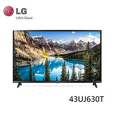 LG樂金 43型  4K UHD智慧聯網電視 43UJ630T