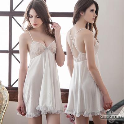 大尺碼 大圓裙柔緞睡衣L-2L Annabery