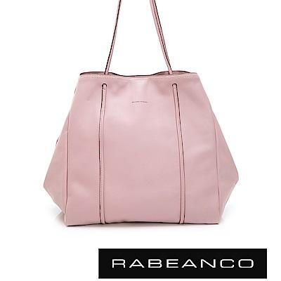 RABEANCO NUNI超輕軟磁扣大型手提袋(內有鎖匙扣帶) 粉紅