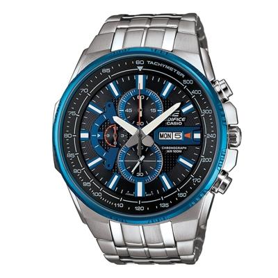 EDIFICE魅力風格時尚科技雙顯賽車錶(EFR-549D-1A2)-藍/50.3mm