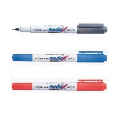 三菱 CD專用雙頭筆3支(黑藍紅3色)