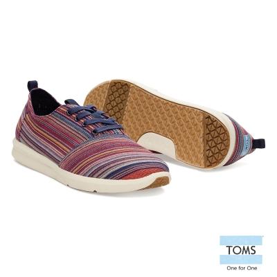 TOMS 條紋休閒鞋-男款(紫紅)