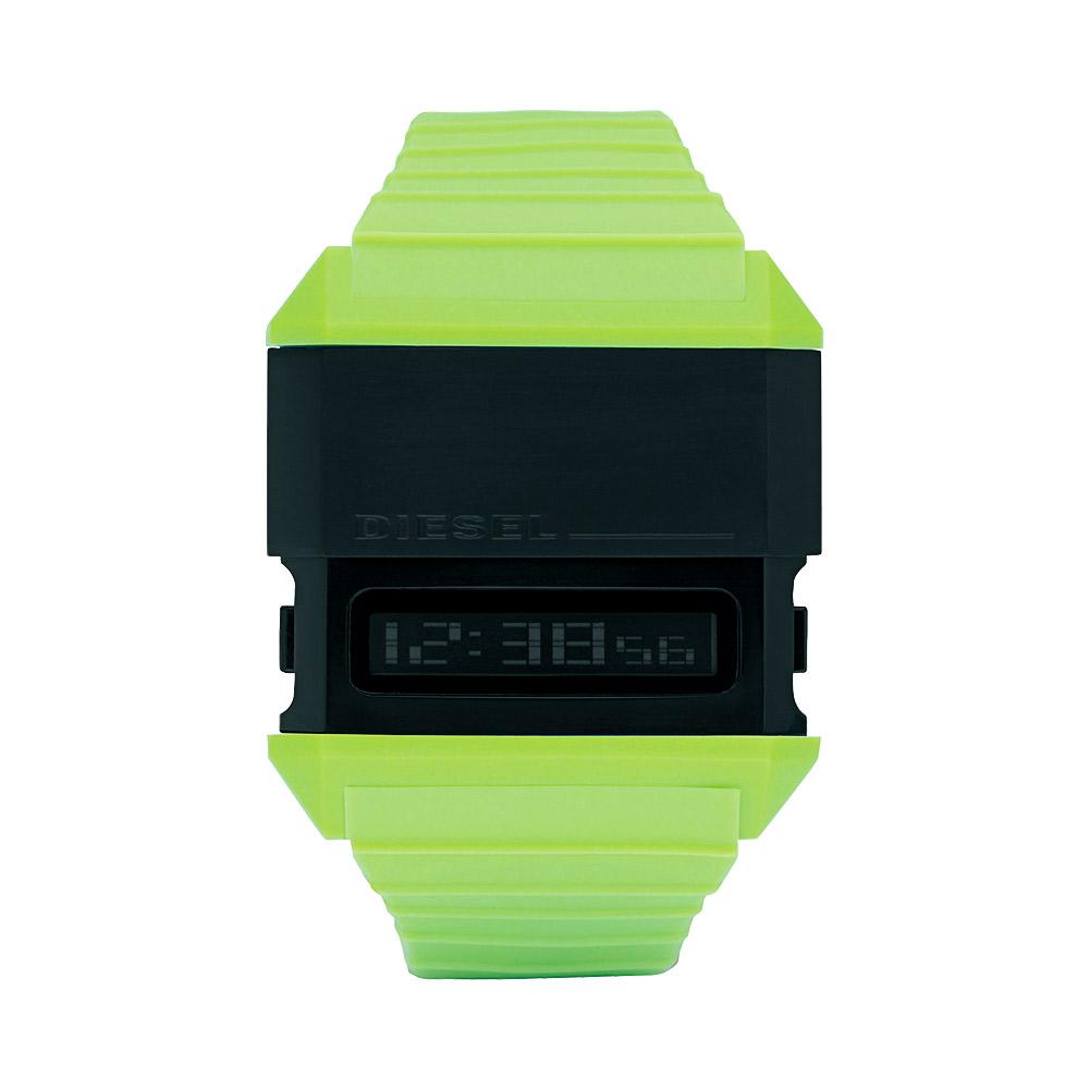 DIESEL 科技玩家電子腕錶-綠/41.3x47.3mm