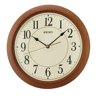 SEIKO 日本精工 滑動式秒針 靜音掛鐘(QXA713A)-咖啡-米黃/30cm