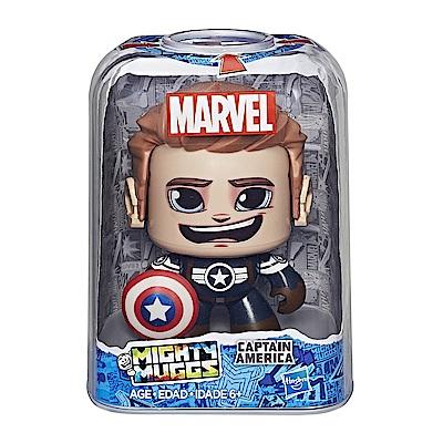 孩之寶 Marvel漫威英雄 酷頭玩偶 Captain America 美國隊長 變臉公仔