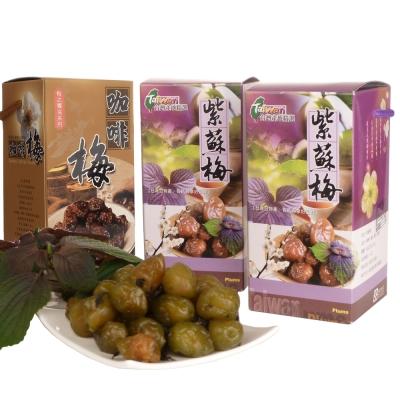 幸福流域  紫蘇梅1200g+咖啡梅600g(3入)