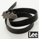 Lee 皮帶 金屬皮帶頭 -女款(黑)