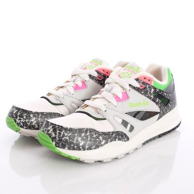 Reebok頂級童鞋-創新花紋慢跑鞋-M47151白(大童段)