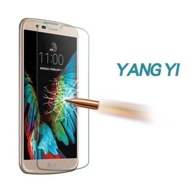 揚邑 LG K10 5.3吋 防爆防刮防眩弧邊 9H鋼化玻璃保護貼膜