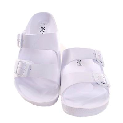 經典雙扣拖鞋 白 sd0080魔法Baby