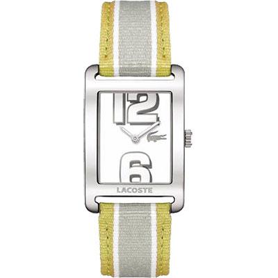 Lacoste 鱷魚 繽紛雙色中性腕錶-黃灰/28mm
