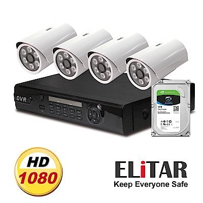 Elitar4路主機4鏡頭Seagate1TB組合