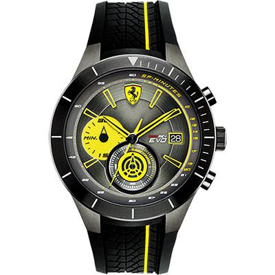 Scuderia Ferrari 法拉利 RedRev Evo 計時手錶-灰x黑/46mm