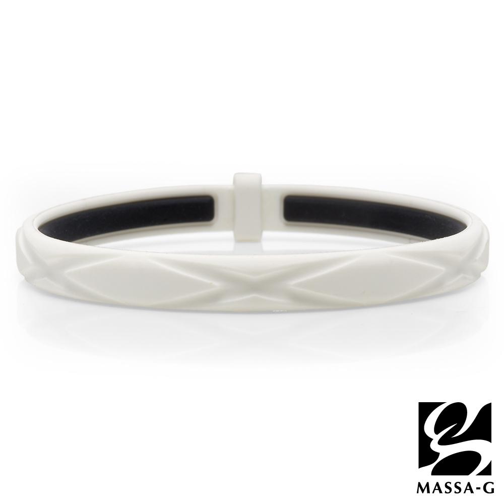 MASSA-G 繽紛炫彩鍺鈦能量手環-白