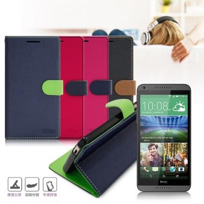 台灣製造 FOCUS HTC Desire 816 糖果繽紛支架側翻皮套