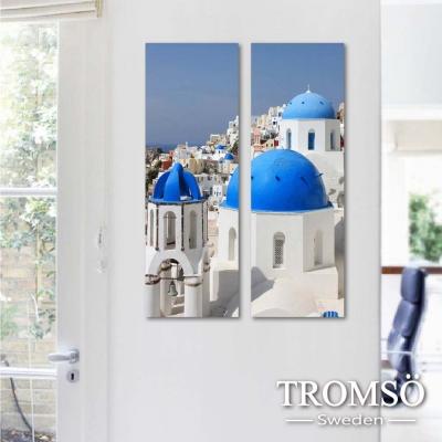 TROMSO時尚無框畫 二聯式-浪漫希臘