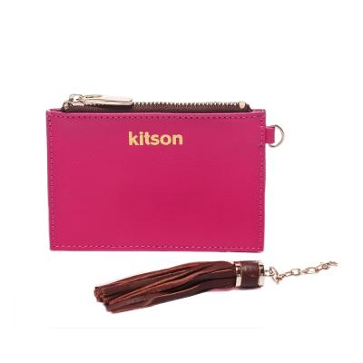 kitson 流蘇Card case真皮鎖匙/零錢包-PINK