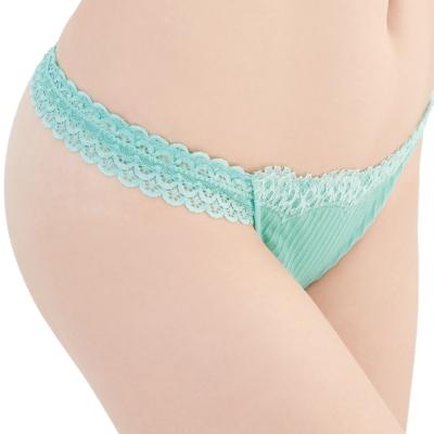 思薇爾 撩波系列M-XL蕾絲低腰丁字褲(泉水綠)