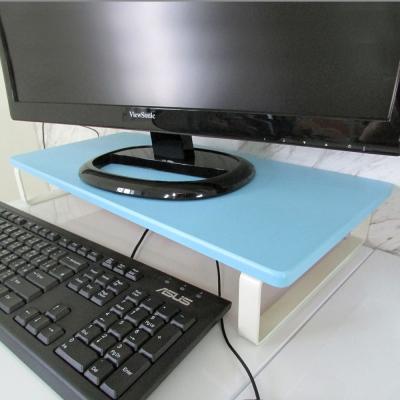 Amos韓式清新無壓感扁鐵桌上架/螢幕架