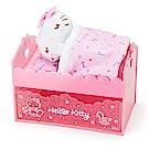 Sanrio HELLO KITTY床鋪造型抽屜式塑膠置物盒附甜睡玩偶