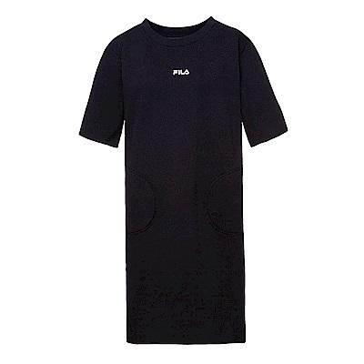FILA #東京企劃 女針織洋裝-黑5DRS-1411-BK