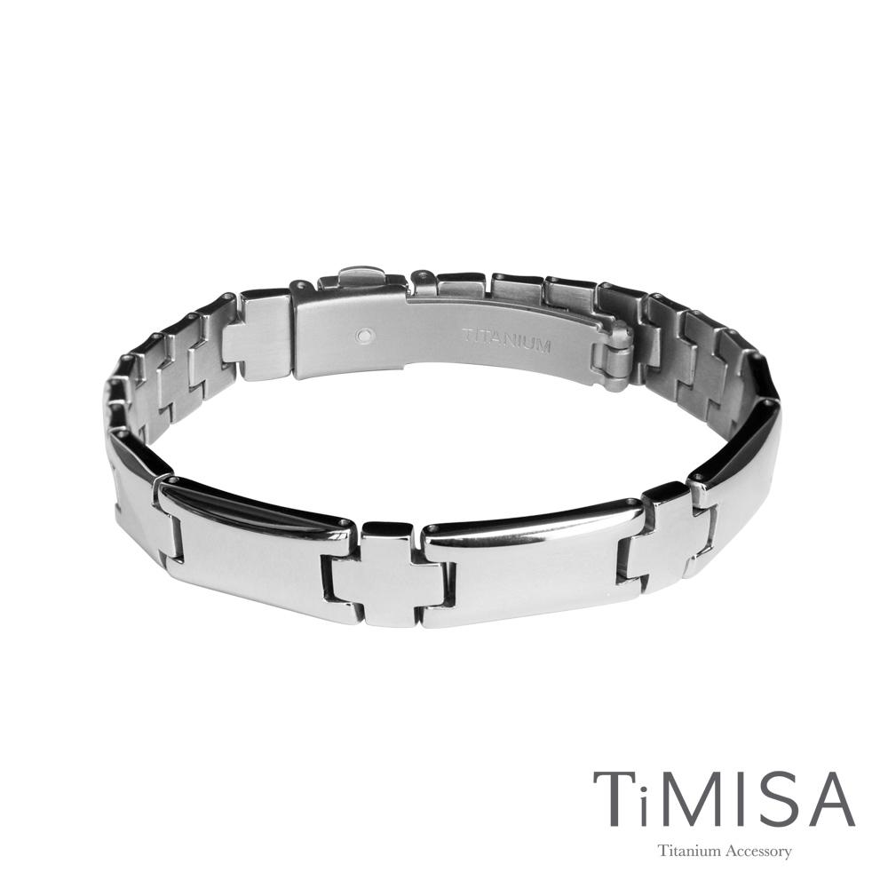 TiMISA 潮流品味 純鈦鍺手鍊