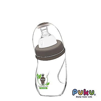 自然晶透寬口微笑玻璃奶瓶240ml