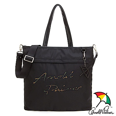 Arnold Palmer- 托特包 型格迷彩系列-黑色